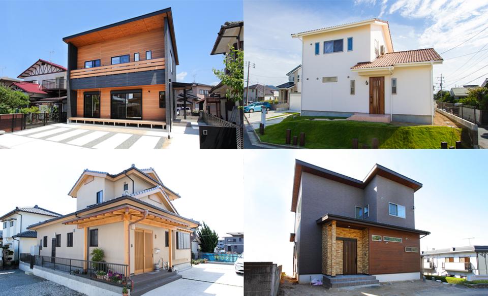 さまざまな大きさ・素材・仕様の家