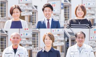 スタッフ紹介 6人のスタッフのポートレート写真
