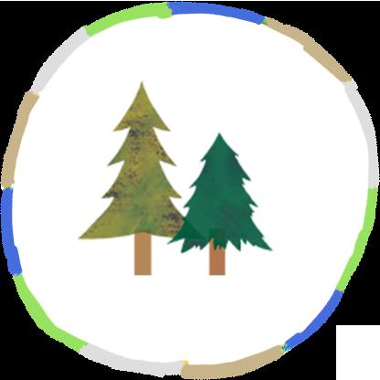 二本の木のイラスト