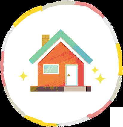 高性能な家のイラスト
