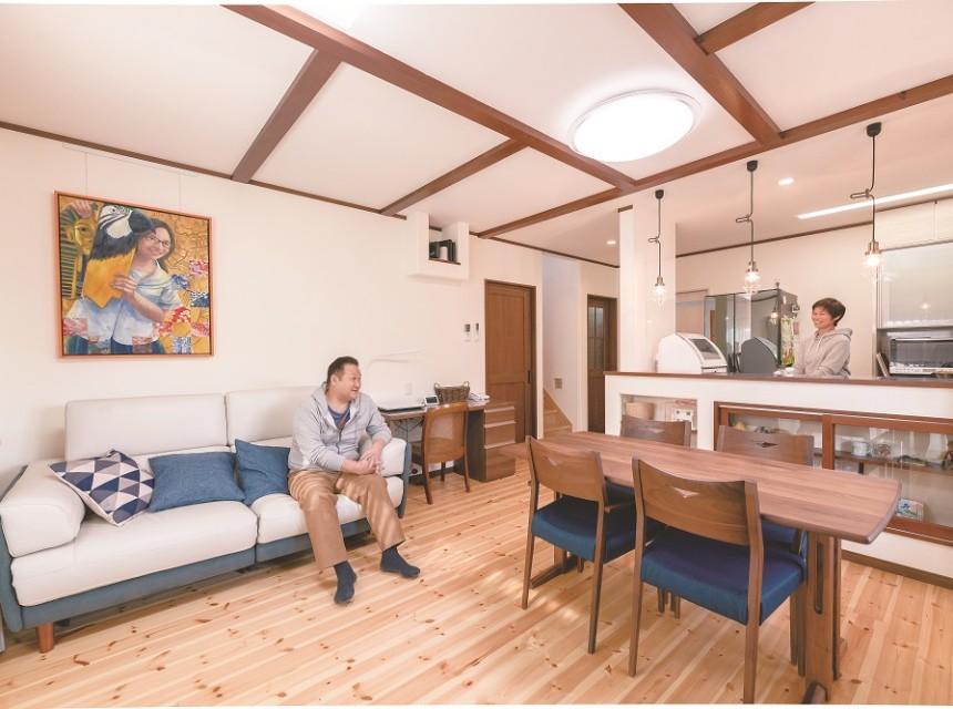 暮らしの動線を追求した自然素材が心地よい家